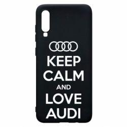 Чехол для Samsung A70 Keep Calm and Love Audi