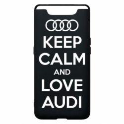 Чехол для Samsung A80 Keep Calm and Love Audi