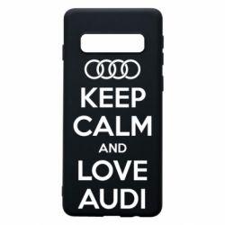 Чехол для Samsung S10 Keep Calm and Love Audi