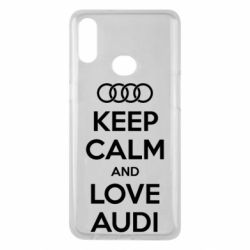 Чехол для Samsung A10s Keep Calm and Love Audi