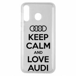 Чехол для Samsung M30 Keep Calm and Love Audi