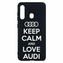 Чехол для Samsung M40 Keep Calm and Love Audi