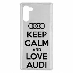 Чехол для Samsung Note 10 Keep Calm and Love Audi