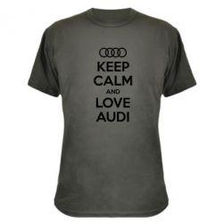 Камуфляжная футболка Keep Calm and Love Audi - FatLine