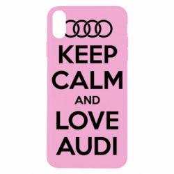 Чехол для iPhone X/Xs Keep Calm and Love Audi