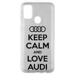 Чехол для Samsung M30s Keep Calm and Love Audi