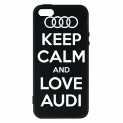 Купить Чехол для iPhone5/5S/SE Keep Calm and Love Audi, FatLine