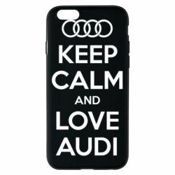 Чехол для iPhone 6/6S Keep Calm and Love Audi
