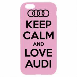 Чехол для iPhone 6 Plus/6S Plus Keep Calm and Love Audi
