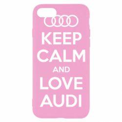 Чехол для iPhone 7 Keep Calm and Love Audi