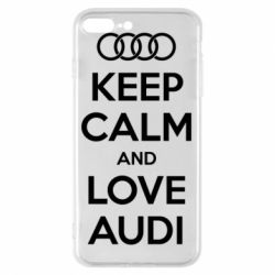 Чехол для iPhone 7 Plus Keep Calm and Love Audi