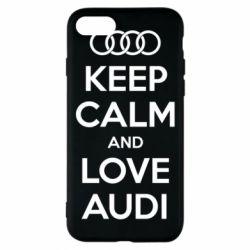 Чехол для iPhone 8 Keep Calm and Love Audi