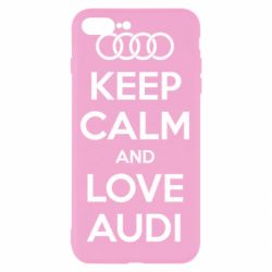 Чехол для iPhone 8 Plus Keep Calm and Love Audi