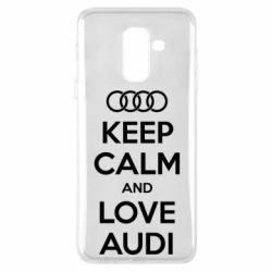 Чехол для Samsung A6+ 2018 Keep Calm and Love Audi