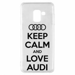 Чехол для Samsung A8 2018 Keep Calm and Love Audi