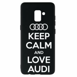 Чехол для Samsung A8+ 2018 Keep Calm and Love Audi