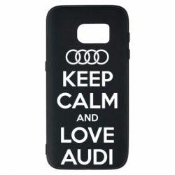 Чехол для Samsung S7 Keep Calm and Love Audi