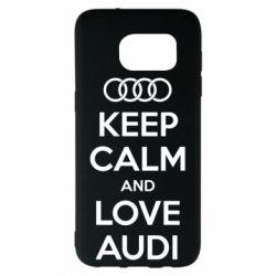 Чехол для Samsung S7 EDGE Keep Calm and Love Audi