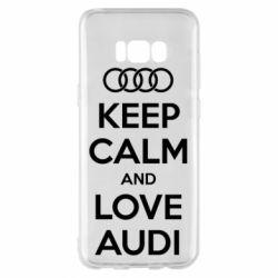 Чехол для Samsung S8+ Keep Calm and Love Audi