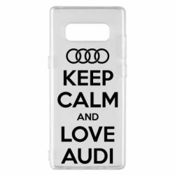 Чехол для Samsung Note 8 Keep Calm and Love Audi