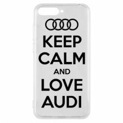 Чехол для Huawei Y6 2018 Keep Calm and Love Audi - FatLine