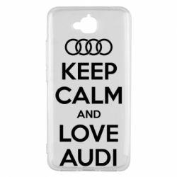 Чехол для Huawei Y6 Pro Keep Calm and Love Audi - FatLine