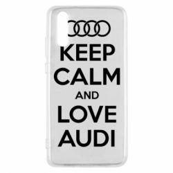 Чехол для Huawei P20 Keep Calm and Love Audi - FatLine