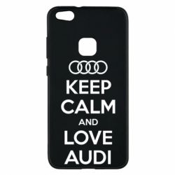 Чехол для Huawei P10 Lite Keep Calm and Love Audi - FatLine