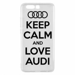 Чехол для Huawei P10 Plus Keep Calm and Love Audi - FatLine