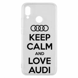 Чехол для Huawei P20 Lite Keep Calm and Love Audi - FatLine