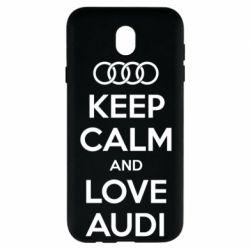 Чехол для Samsung J7 2017 Keep Calm and Love Audi