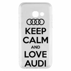 Чехол для Samsung A3 2017 Keep Calm and Love Audi