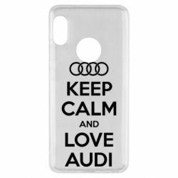 Чехол для Xiaomi Redmi Note 5 Keep Calm and Love Audi - FatLine