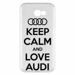 Чехол для Samsung A7 2017 Keep Calm and Love Audi