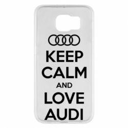 Чехол для Samsung S6 Keep Calm and Love Audi