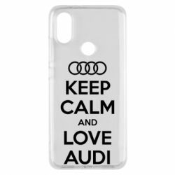 Чехол для Xiaomi Mi A2 Keep Calm and Love Audi