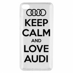 Чехол для Xiaomi Mi 5s Keep Calm and Love Audi