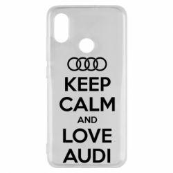 Чехол для Xiaomi Mi8 Keep Calm and Love Audi