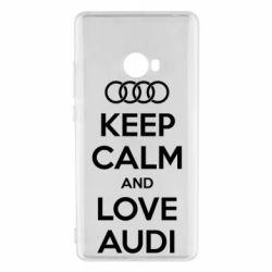 Чехол для Xiaomi Mi Note 2 Keep Calm and Love Audi - FatLine