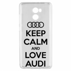 Чехол для Xiaomi Redmi 4 Keep Calm and Love Audi - FatLine