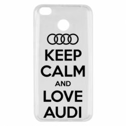 Чехол для Xiaomi Redmi 4x Keep Calm and Love Audi - FatLine