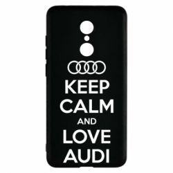 Чехол для Xiaomi Redmi 5 Keep Calm and Love Audi - FatLine