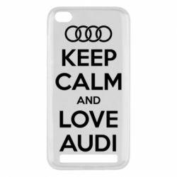 Чехол для Xiaomi Redmi 5a Keep Calm and Love Audi - FatLine