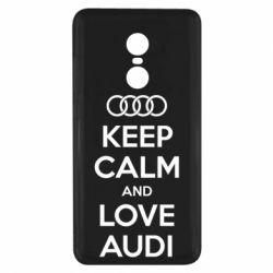 Чехол для Xiaomi Redmi Note 4x Keep Calm and Love Audi - FatLine