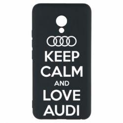 Чехол для Meizu M5 Keep Calm and Love Audi - FatLine