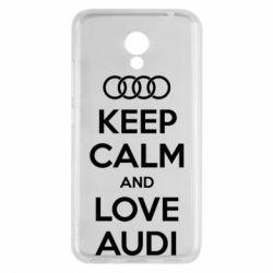 Чехол для Meizu M5c Keep Calm and Love Audi - FatLine