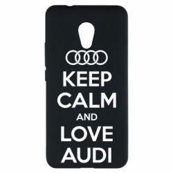 Чехол для Meizu M5s Keep Calm and Love Audi - FatLine