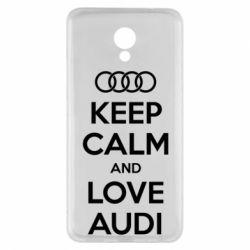 Чехол для Meizu M5 Note Keep Calm and Love Audi - FatLine