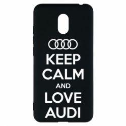Чехол для Meizu M6 Keep Calm and Love Audi - FatLine