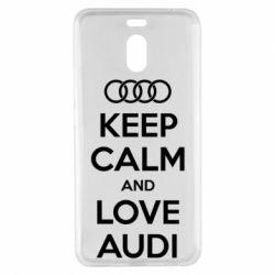 Чехол для Meizu M6 Note Keep Calm and Love Audi - FatLine